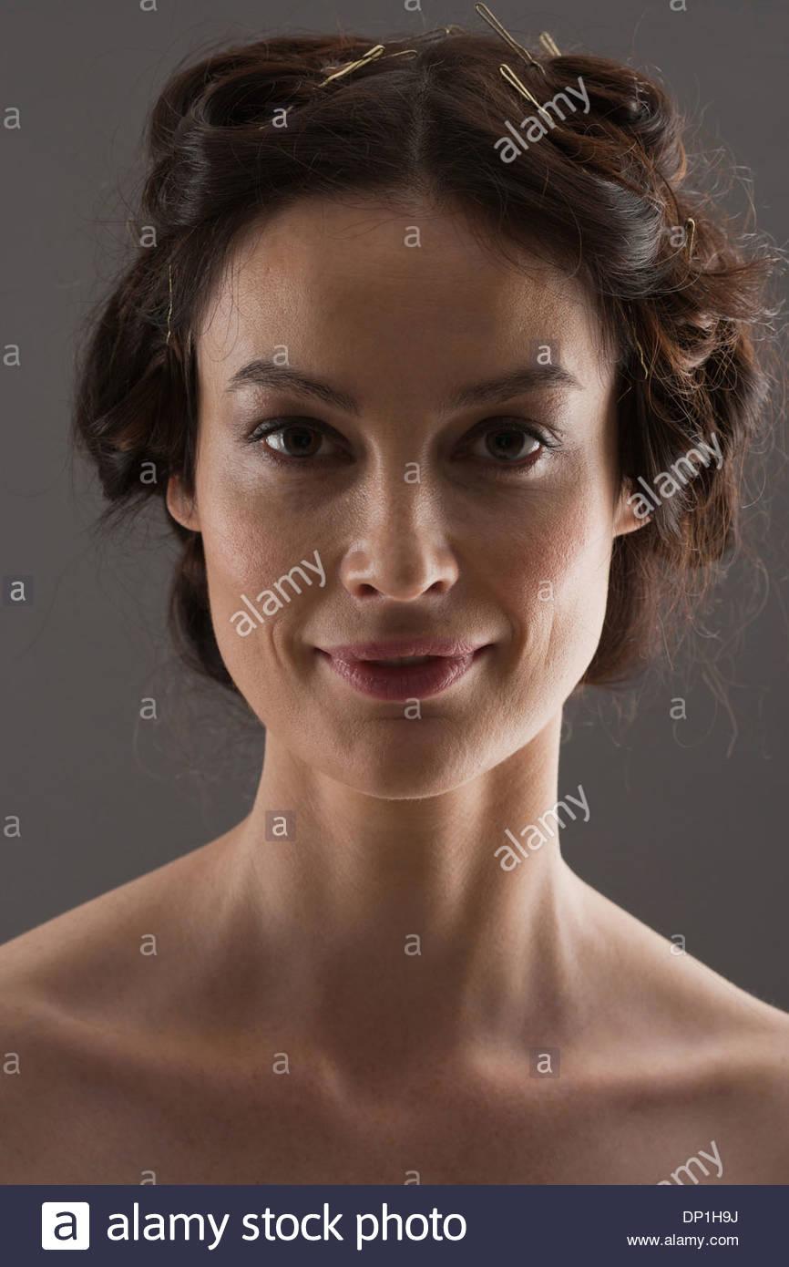 Portrait of woman - Stock Image