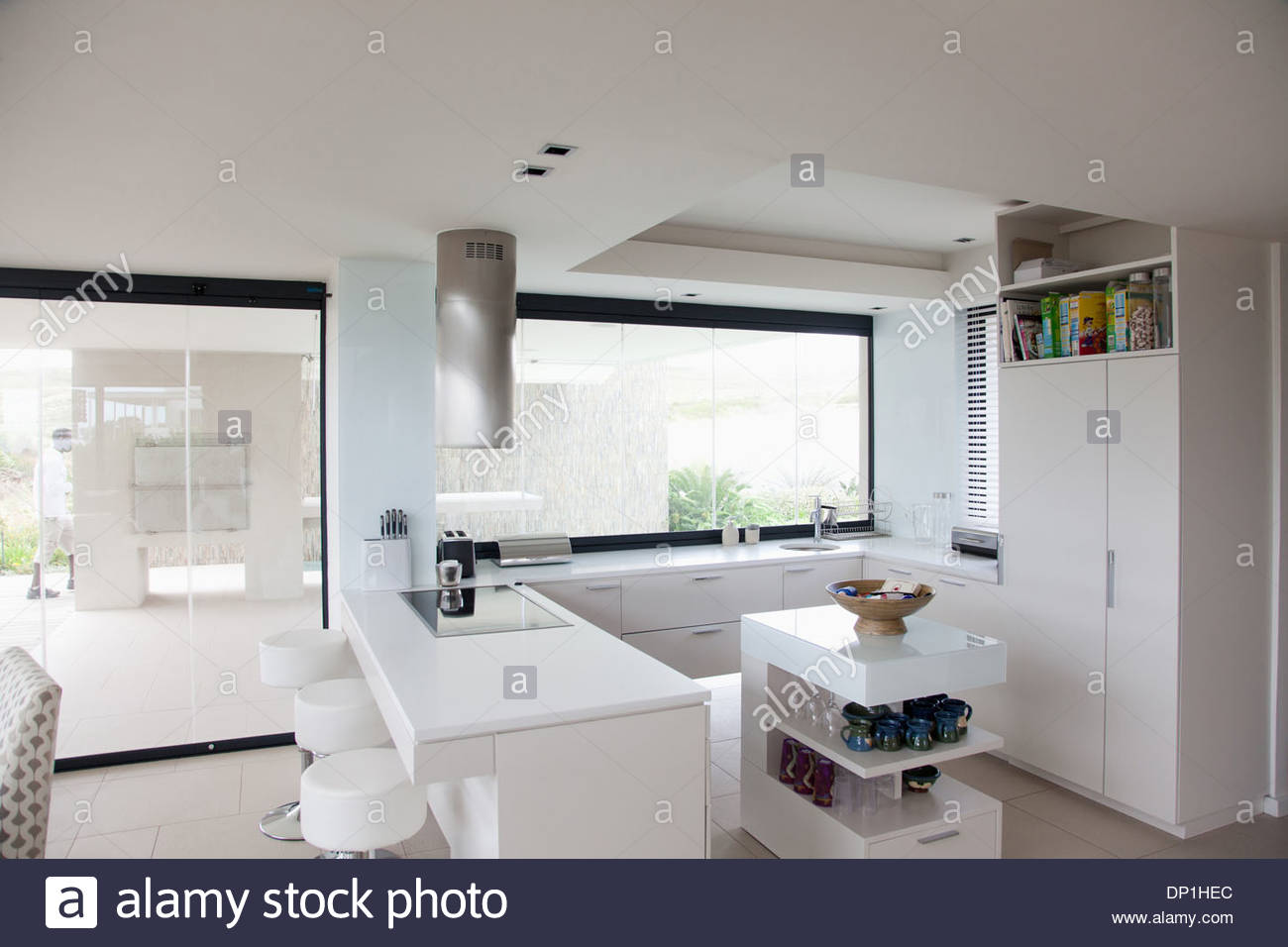View of modern kitchen - Stock Image