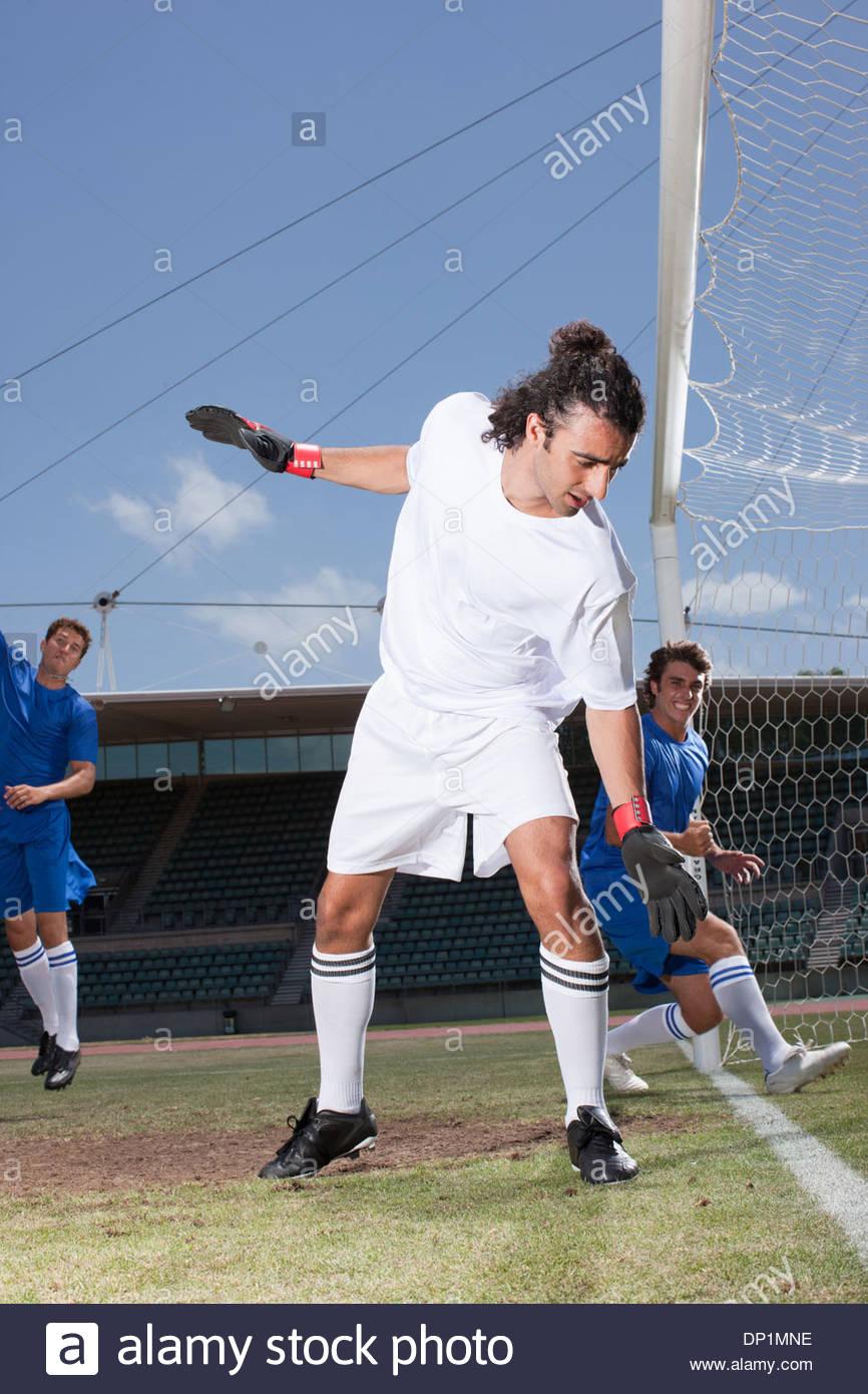Soccer goalie - Stock Image