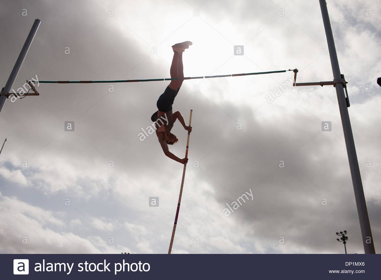Pole vaulter - Stock Image