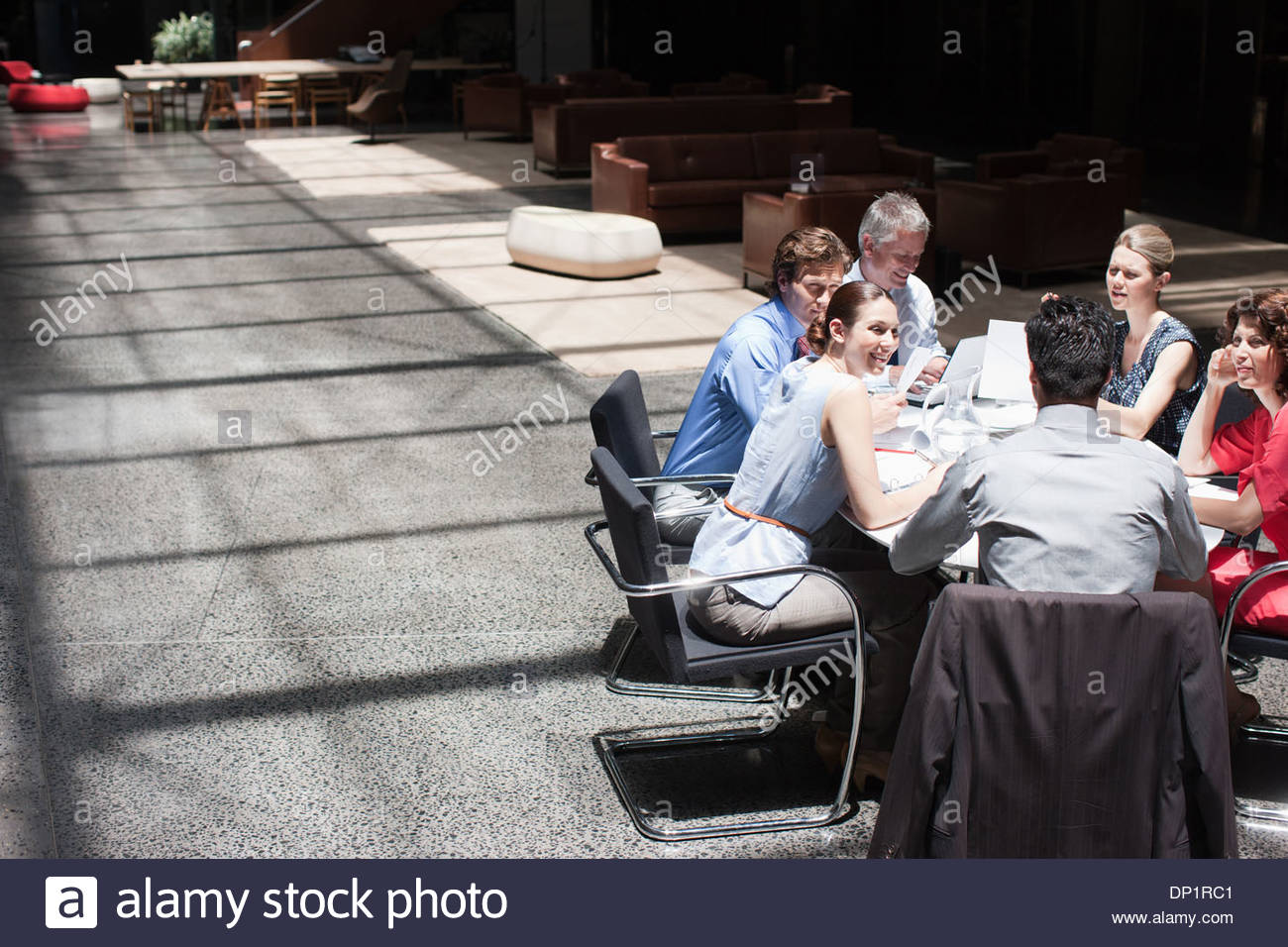Business people meeting at conference table - Stock Image