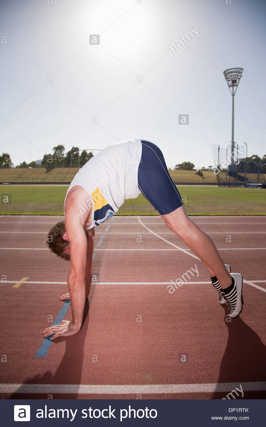 Runner on track - Stock Image