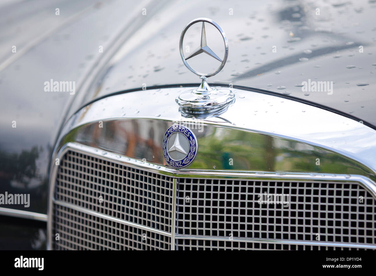 Radiator Grill Mercedes Benz W110 1962 Vintage Car