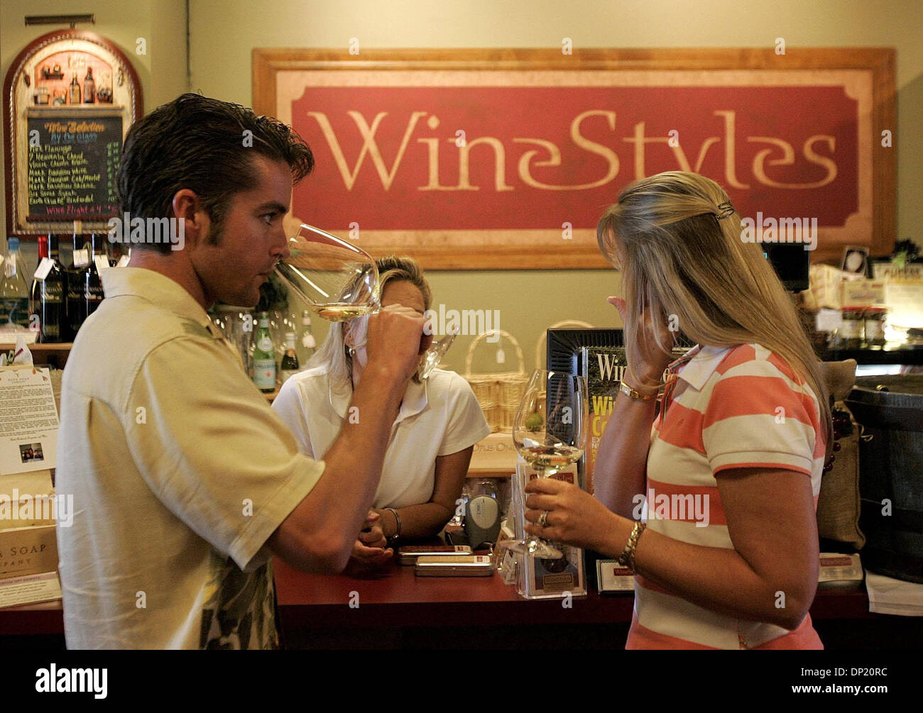 May 12, 2006; Palm Beach Gardens, FL, USA; Weekly Wine Tasting Events Are  Held At WineStyles Located At PGA Commons West In Palm Beach Gardens.