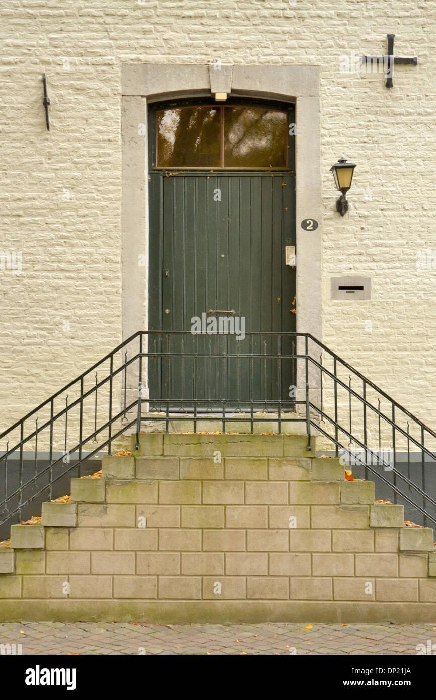 door of house and front stoop (stairs) in Jekerdaal neighbourhood of Maastricht - Stock & House Door Stoop Stock Photos u0026 House Door Stoop Stock Images - Alamy
