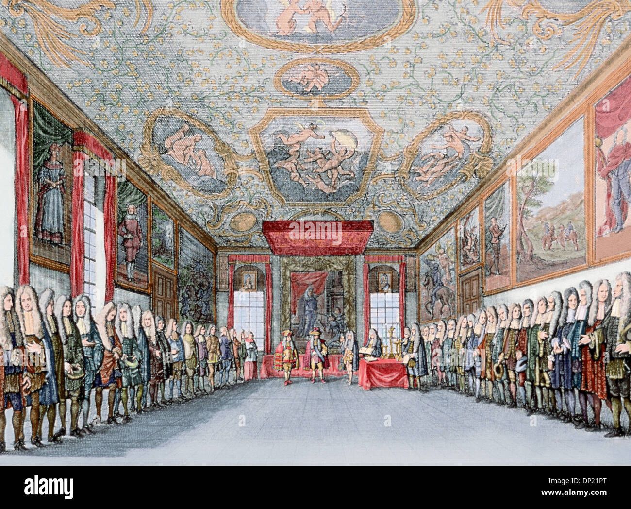 Charles VI of Habsburg (1685-1740), Holy Roman Emperor (1711-1740). Proclamation of the Archduke Charles as king of Spain, 1706. - Stock Image