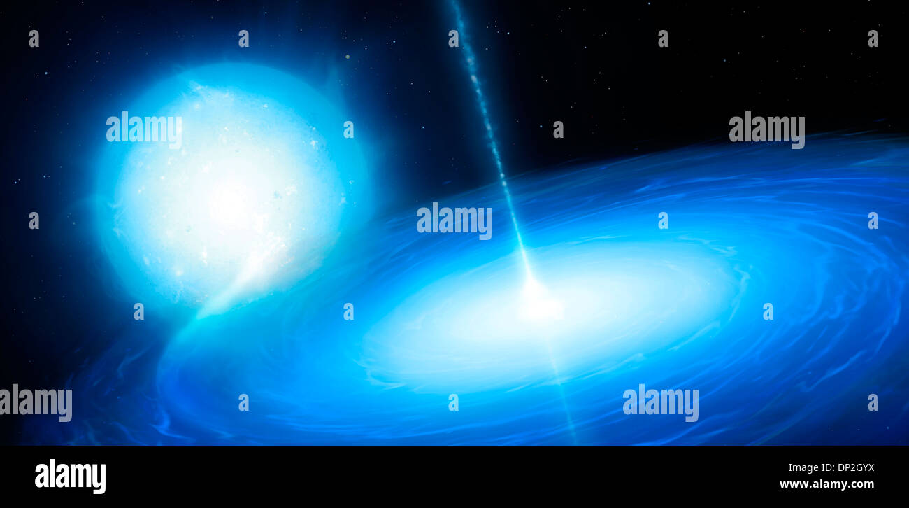 Microquasar X-ray binary system - Stock Image