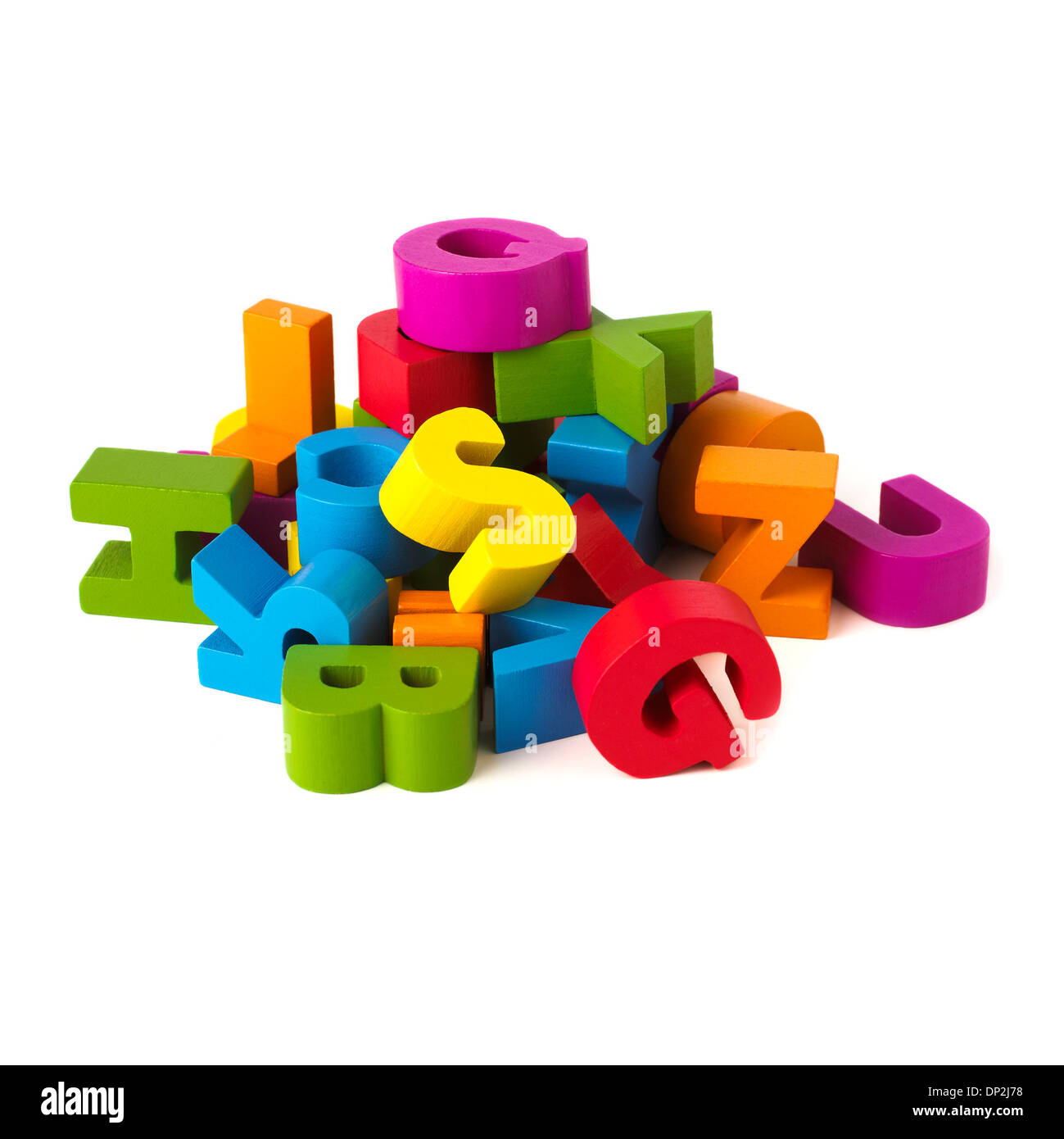 Multicoloured letters - Stock Image