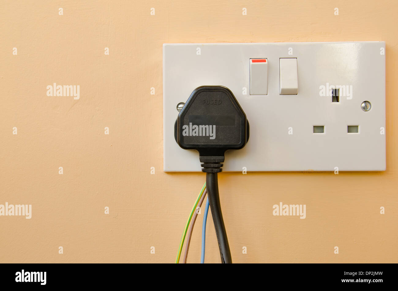 Stupendous Mains Uk Plug And Socket Split Cable Bare Wires Failure Electrical Wiring Database Wedabyuccorg