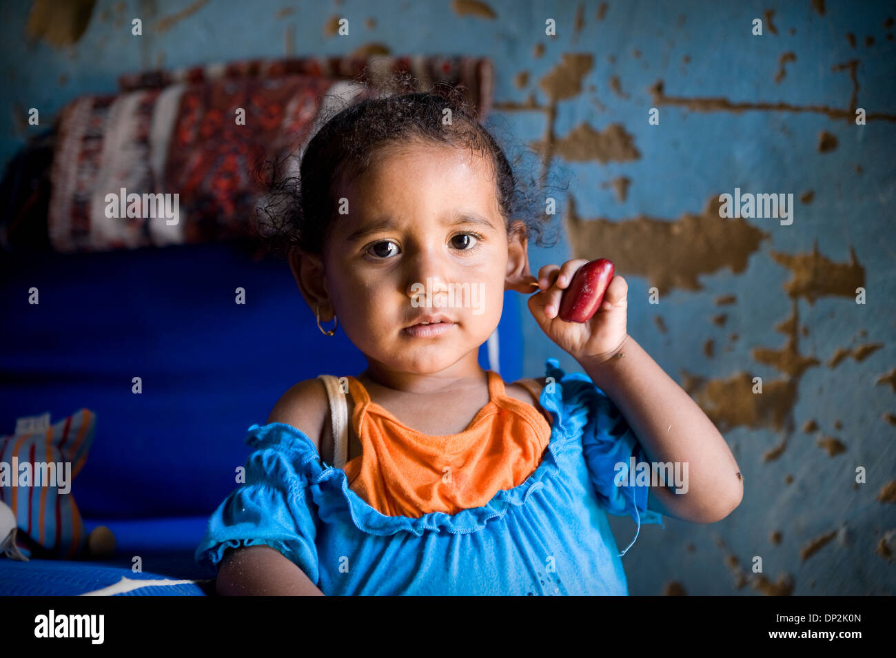 EGYPT, BELBEIS: In rural areas living conditions often are very simple and poor. - Stock Image