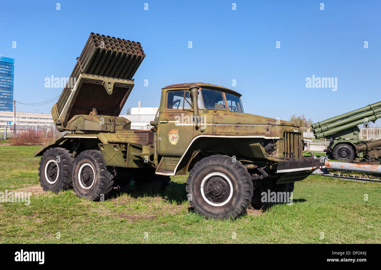 BM-21 Grad 122-mm Multiple Rocket Launcher - Stock Image