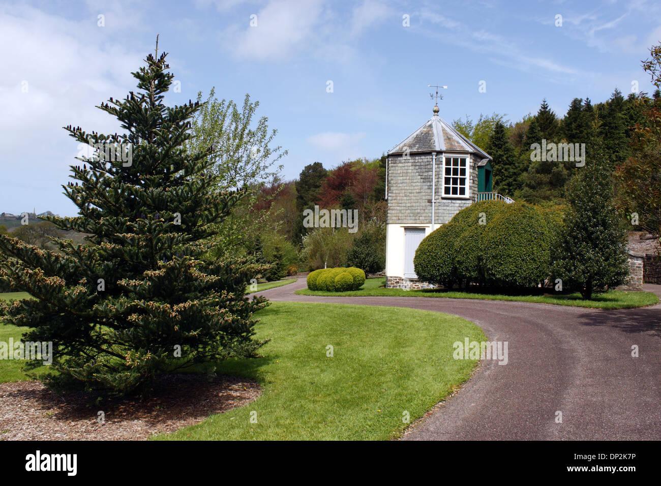 THE PALMER HOUSE GAZEBO IN THE GROUNDS OF RHS ROSEMOOR. DEVON UK. - Stock Image