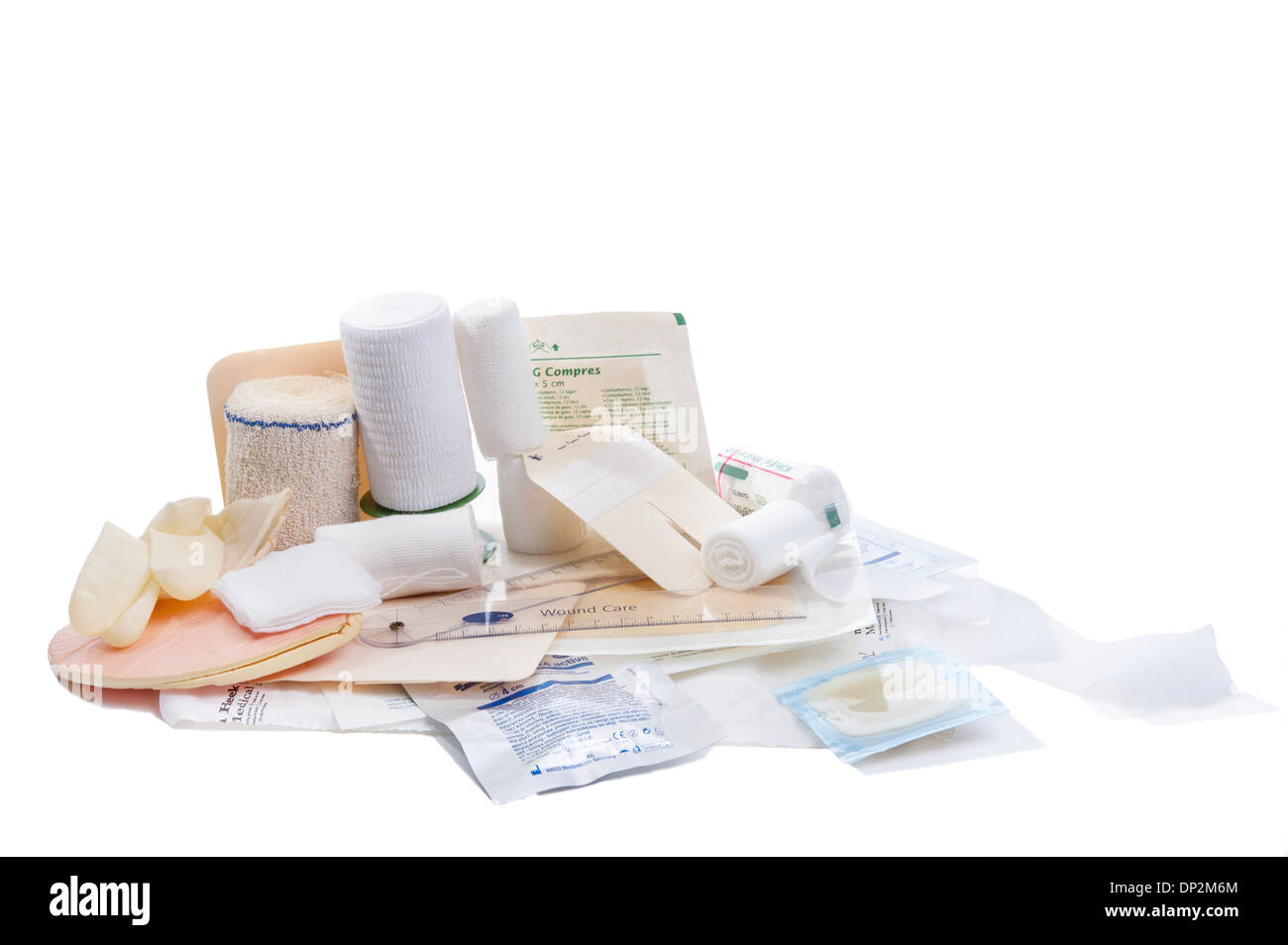 Bandages and dressings - Stock Image