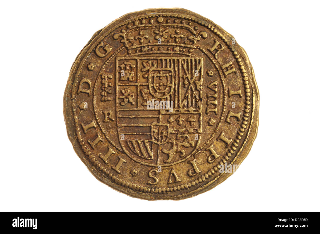 replica of ancient medieval coin - Stock Image