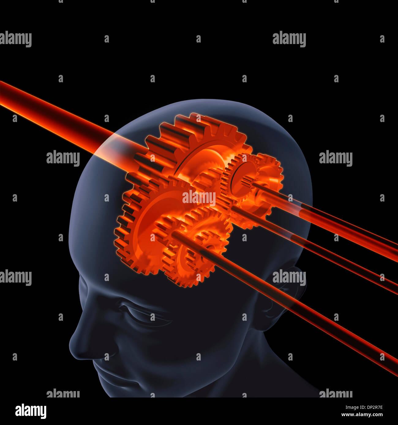 Thinking, conceptual artwork - Stock Image