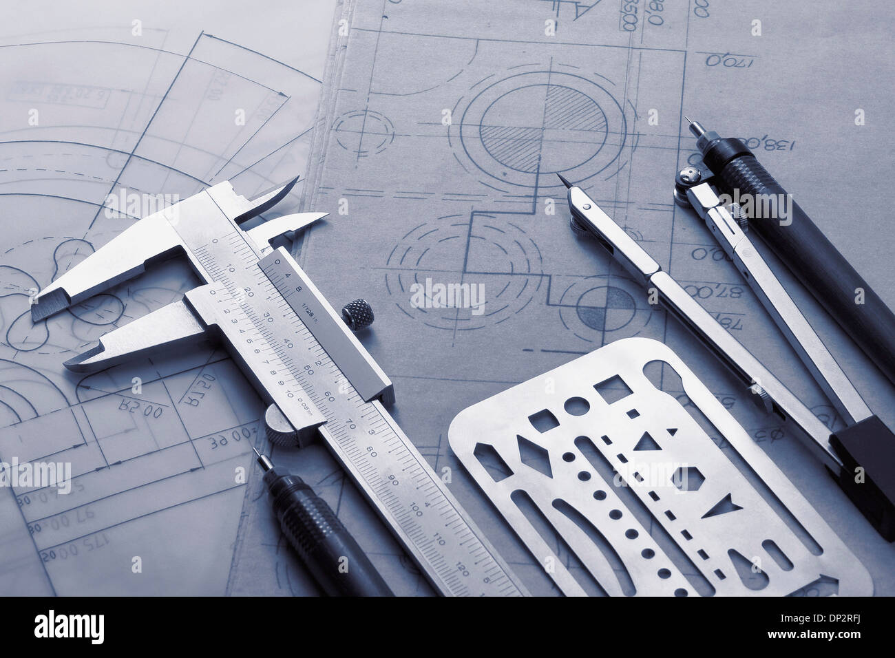 technical drawing instruments stock photo 65215910 alamy