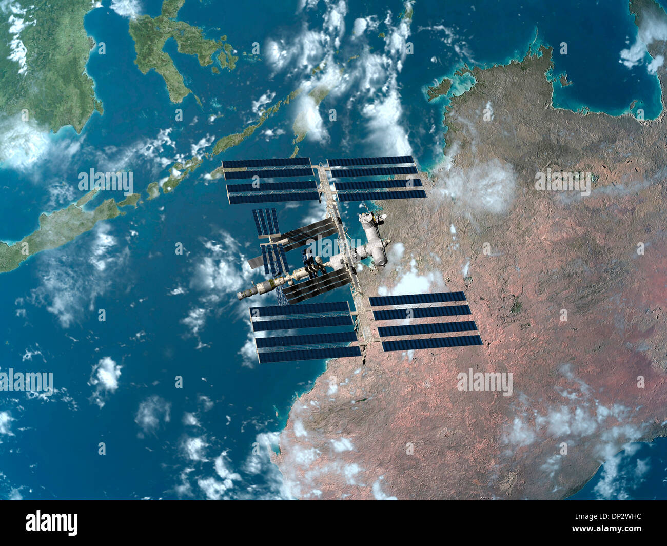 International Space Station, artwork - Stock Image