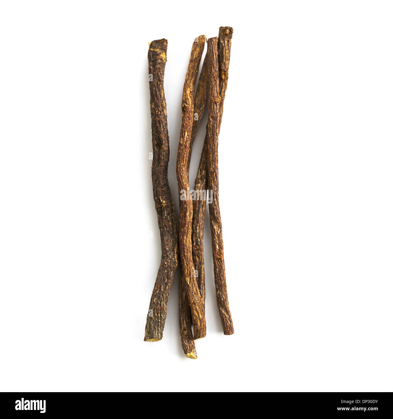 Liquorice Glycyrrhiza glabra root Stock Photo