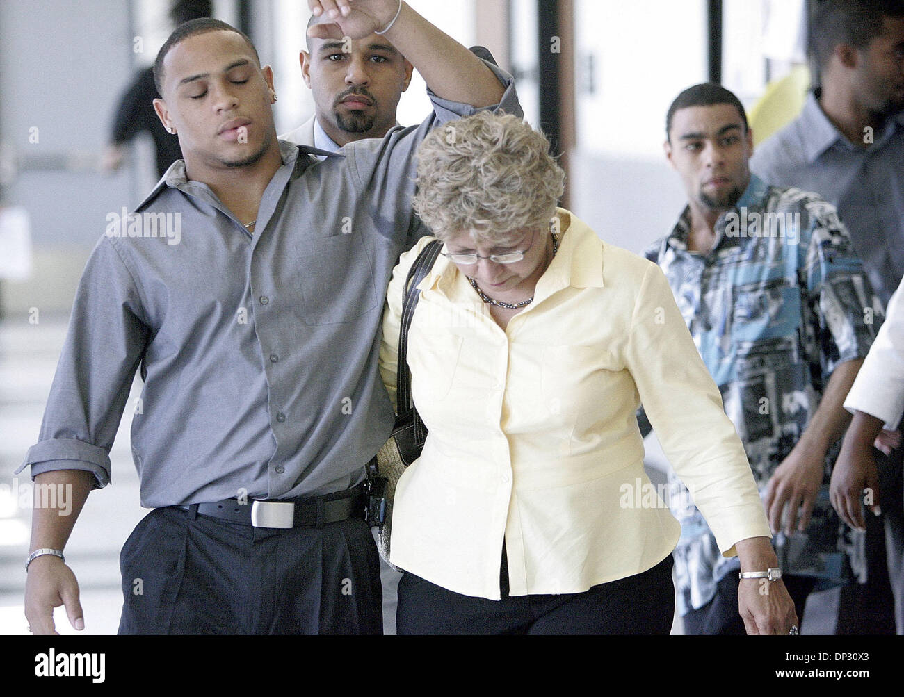 Jun 14, 2006; West Palm Beach, FL, USA; Jamie Lee Daniel pled guilty to killing his former wife Renay and their son Sabree and was sentenced to 50 years in prison with no chance of early release today at the Palm Beach County Courthouse in West Palm Beach. Family members of murder victims were present in Judge Krista Marx's courtroom. Family members delined to talk to the press as  - Stock Image
