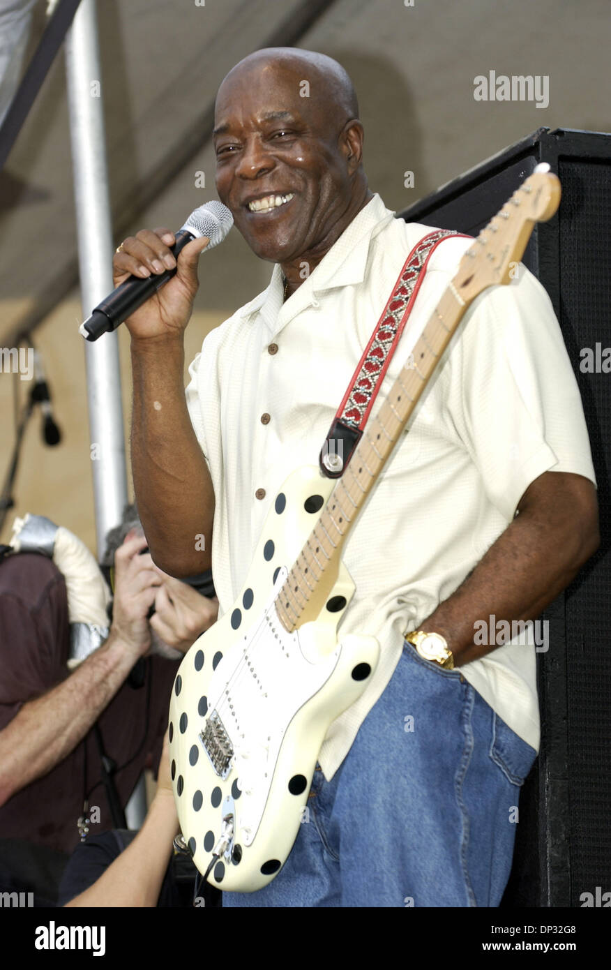 Jun 17, 2006; Manchester, TN, USA; Blues Legend BUDDY GUY performs live at the 2006 Bonnaroo Music Festival that took place in Manchester, TN. With over 70,000 fans in attendance at the 4 day festival they get a chance to see a variety of musicians, comedians, and artist. Mandatory Credit: Photo by Jason Moore/ZUMA Press. (©) Copyright 2006 by Jason Moore - Stock Image