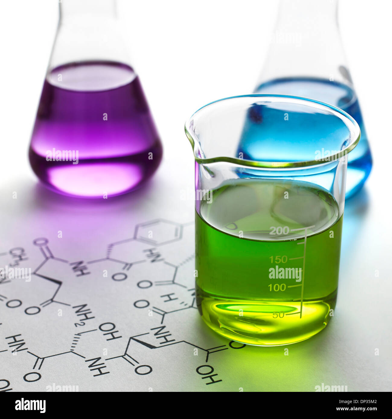 Chemical research, conceptual image - Stock Image