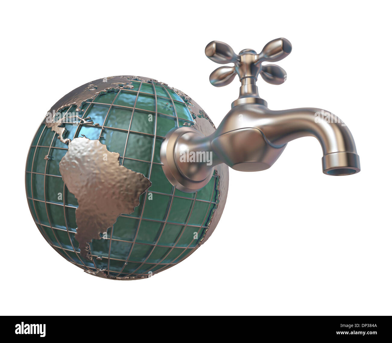Global water supply, conceptual artwork - Stock Image