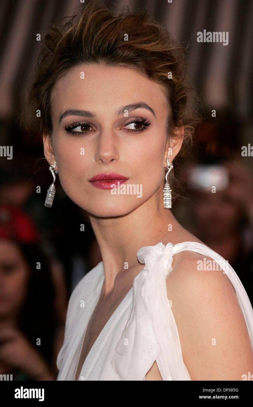 Jun 24, 2006; Anaheim, California, USA; Actress KEIRA KNIGHTLEY at the 'Pirates Of The Caribbean: Dead Man's Chest' World Premiere held at Disneyland. Mandatory Credit: Photo by Lisa O'Connor/ZUMA Press. (©) Copyright 2006 by Lisa O'Connor - Stock Image