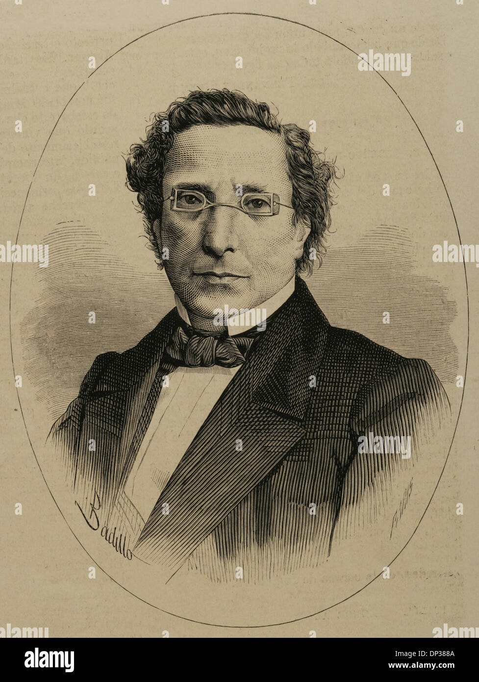 Jose Maria Lafragua Ibarra (1813-1875). Mexican politician and writer. Engraving. - Stock Image