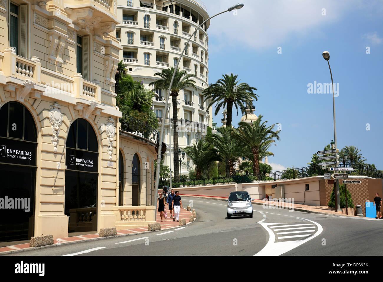 MONACO, MONTE CARLO - JULY 07, 2008: Second turn Formula 1 race from Avenue d'Ostende to Avenue Princesse Alice. - Stock Image