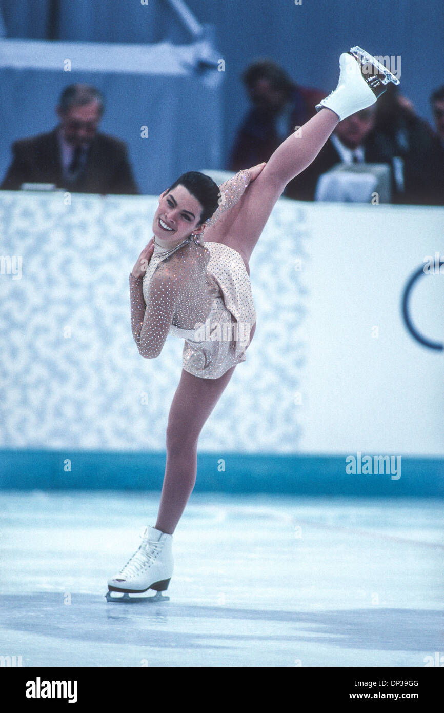 Nancy Kerrigan (USA) silver medalist competing at the 1994 Olympic Winter Games. - Stock Image