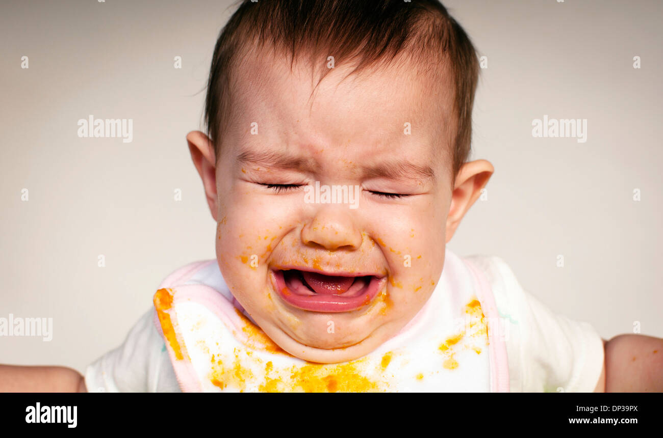 Crying baby - Stock Image