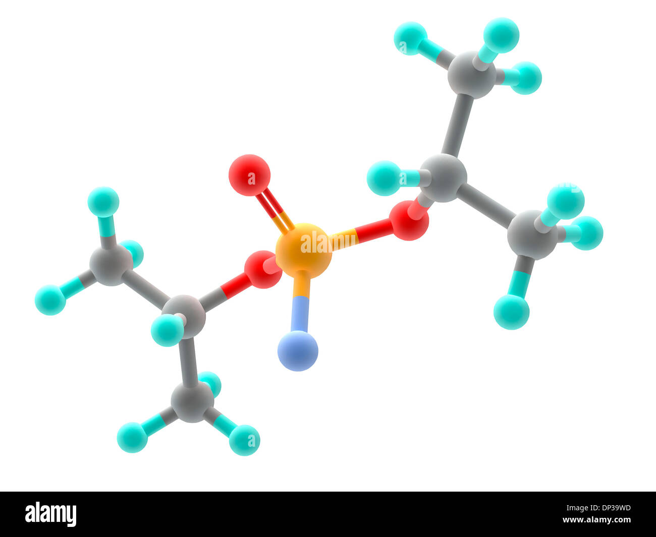 Sarin nerve gas molecule - Stock Image
