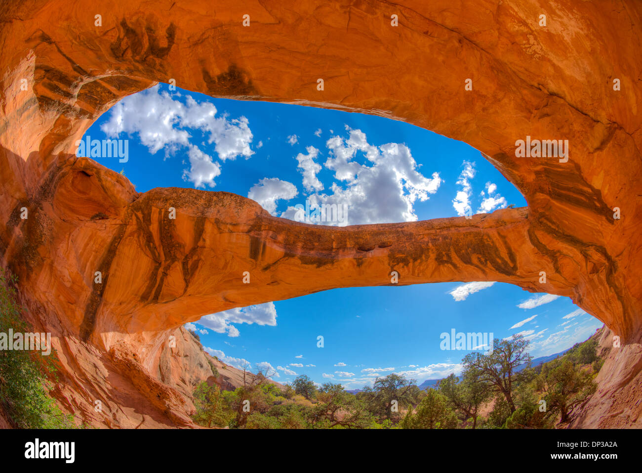 Uranium Arch, BLM lands near Moab, Utah, Natural sandstone arch - Stock Image