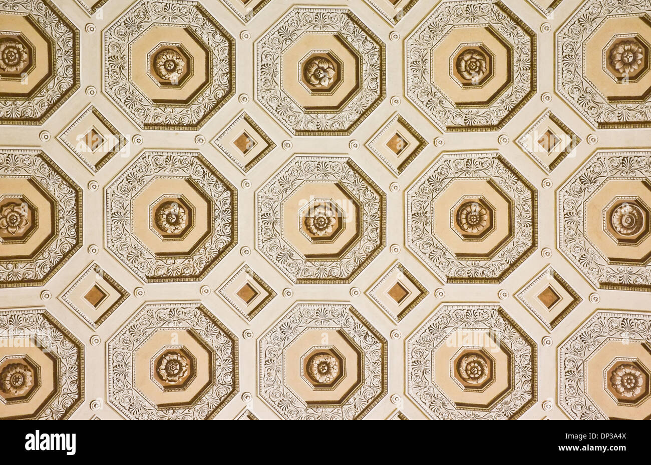 Ceiling details in Vatican Rome Italy - Stock Image
