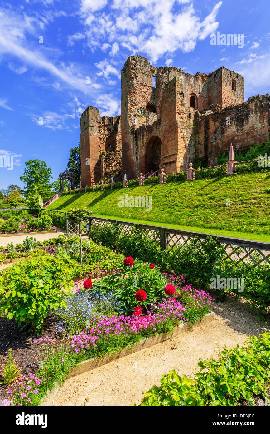 elizabethan gardens kenilworth castle warwickshire england uk - Stock Image