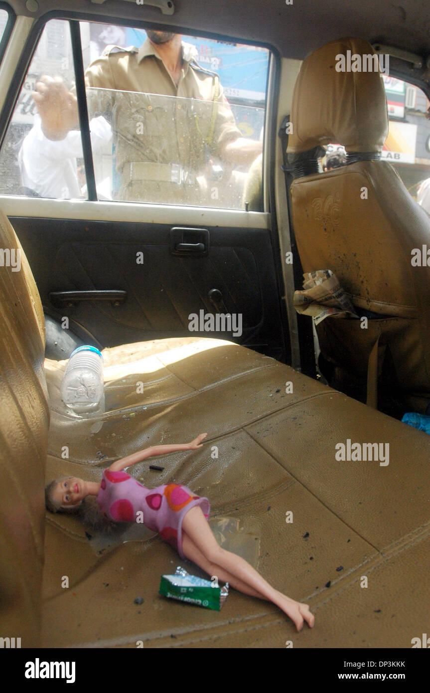 Jul 11 2006 Srinagar Kashmir INDIA A Barbie Doll Lies In The Backseat Of Car That Was One Targets Tuesdays Serial Blasts