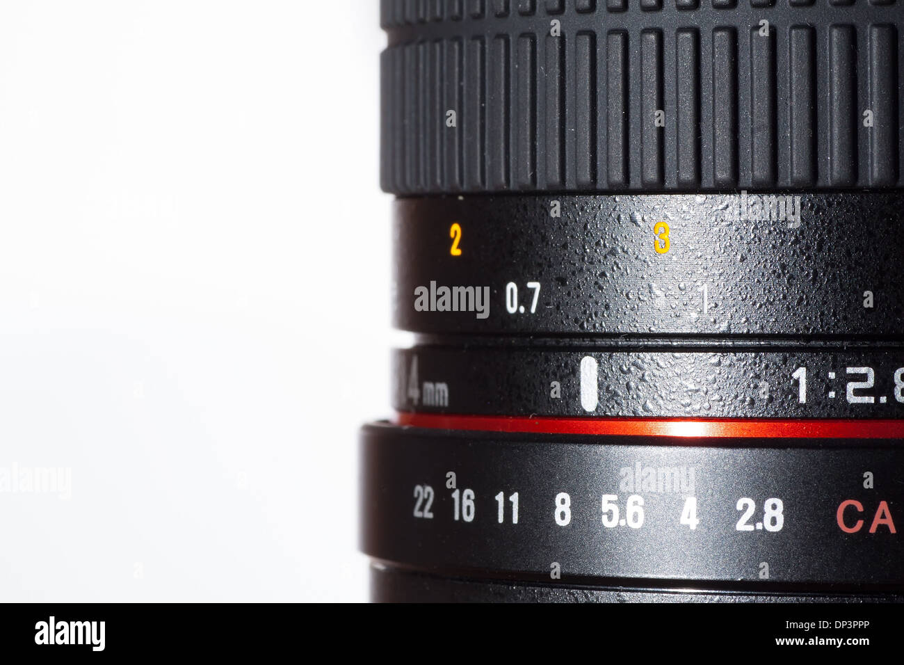 photography of profesional photo lens detail - Stock Image