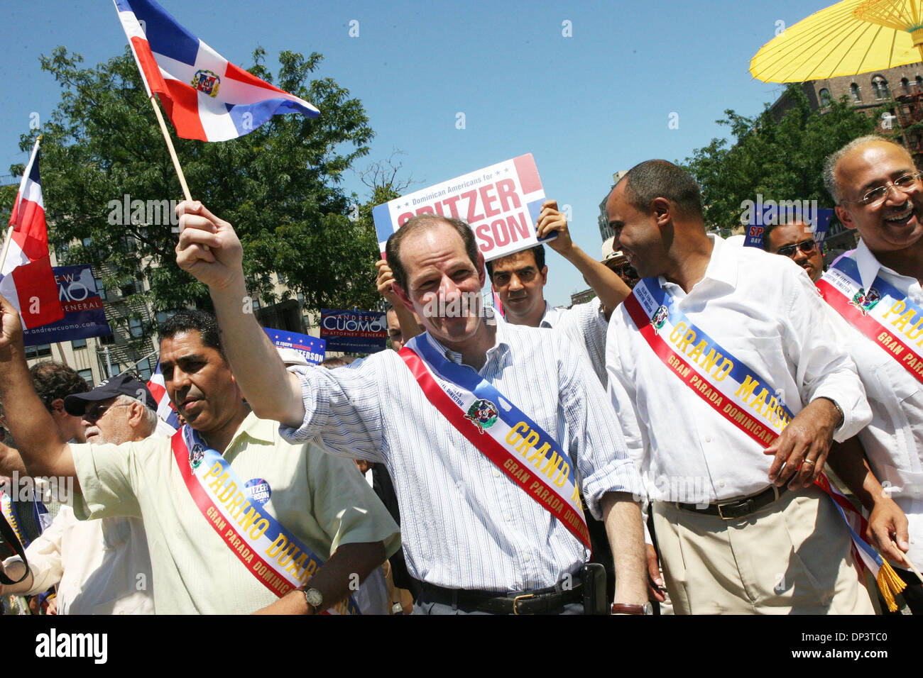 Jul 16, 2006; Bronx, NY, USA; Candidate for New York governor ELIOT SPITZER attending to the Bronx Dominican Parade Stock Photo