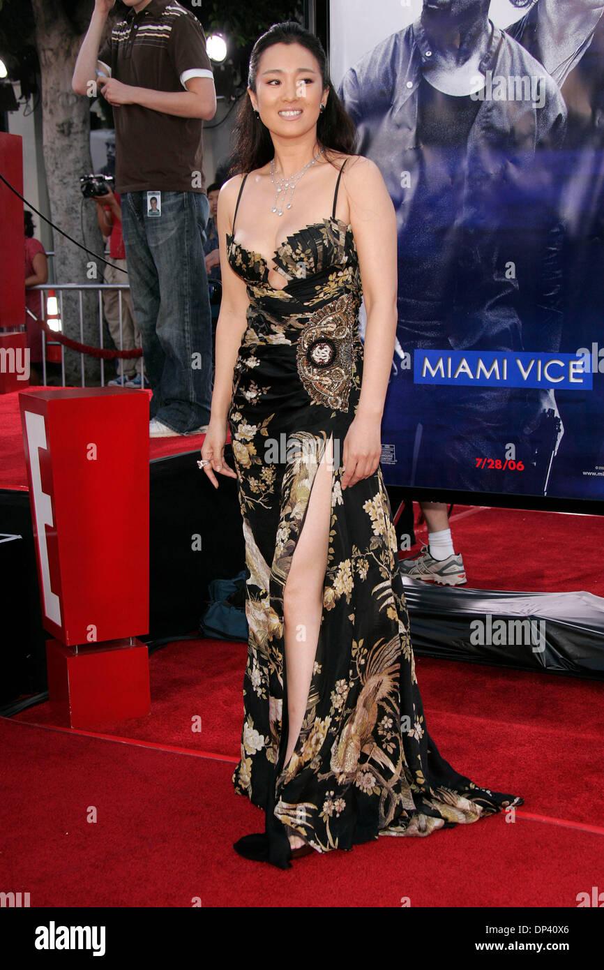 Jul 20, 2006; Westwood, California, USA; Actress GONG LI at the 'Miami Vice' World Premiere held at the Mann Village Stock Photo