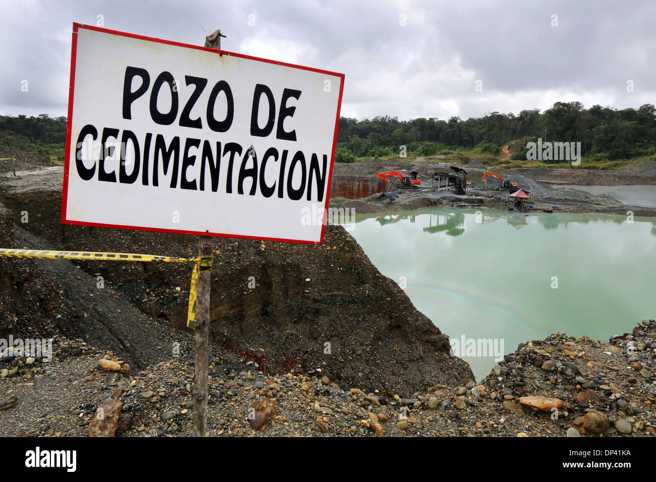 Commercial opencast gold mine Martinez, Chocó Privince, Columbia Stock Photo