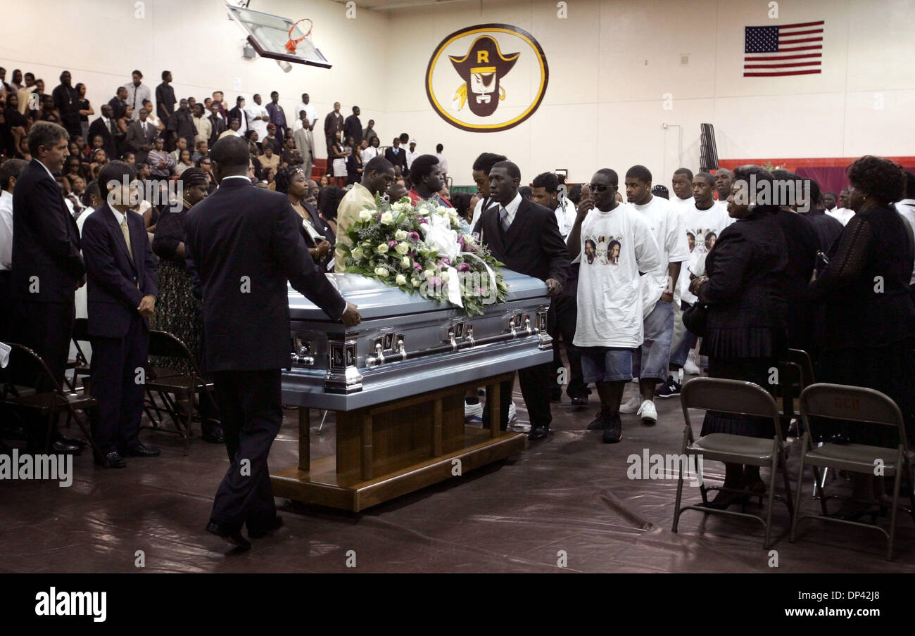 Jul 22, 2006; Belle Glade, FL, USA; A funeral service for ...