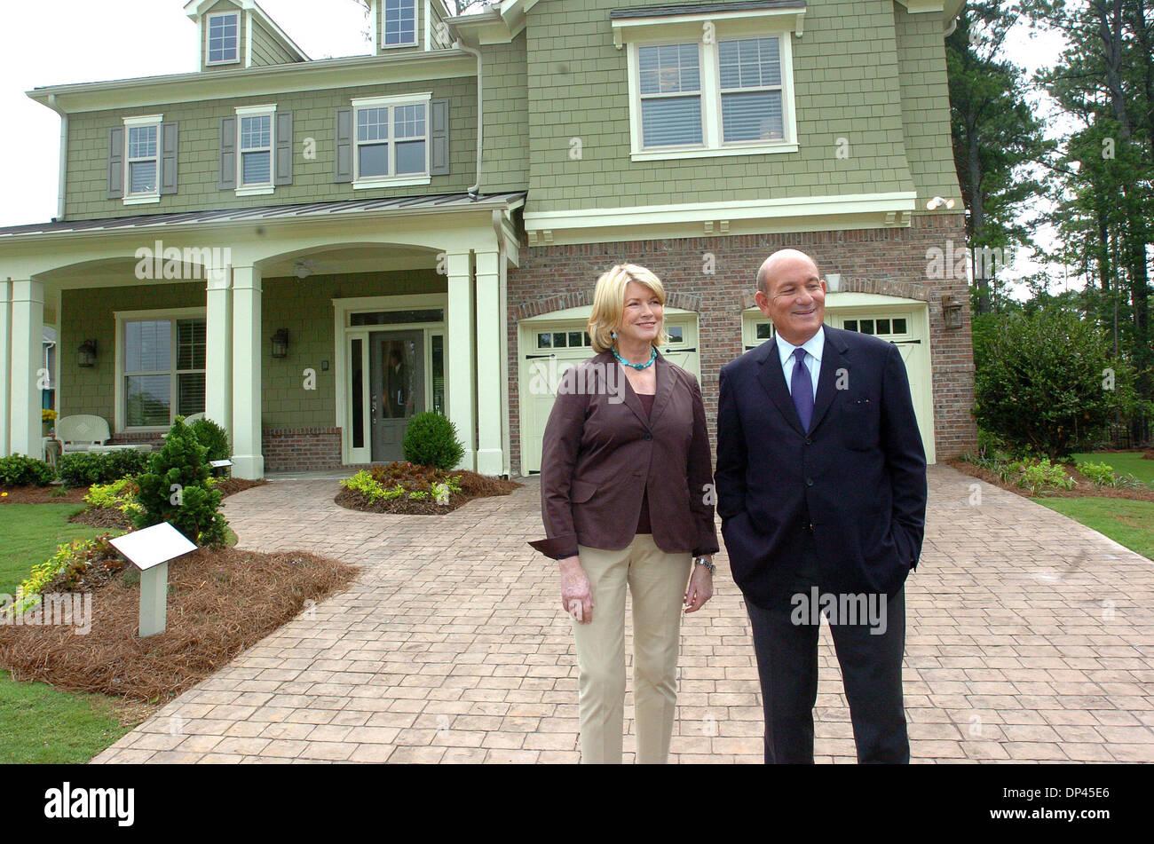 Jul 25, 2006; Fairburn, GA, USA; MARTHA STEWART outside one of the ...