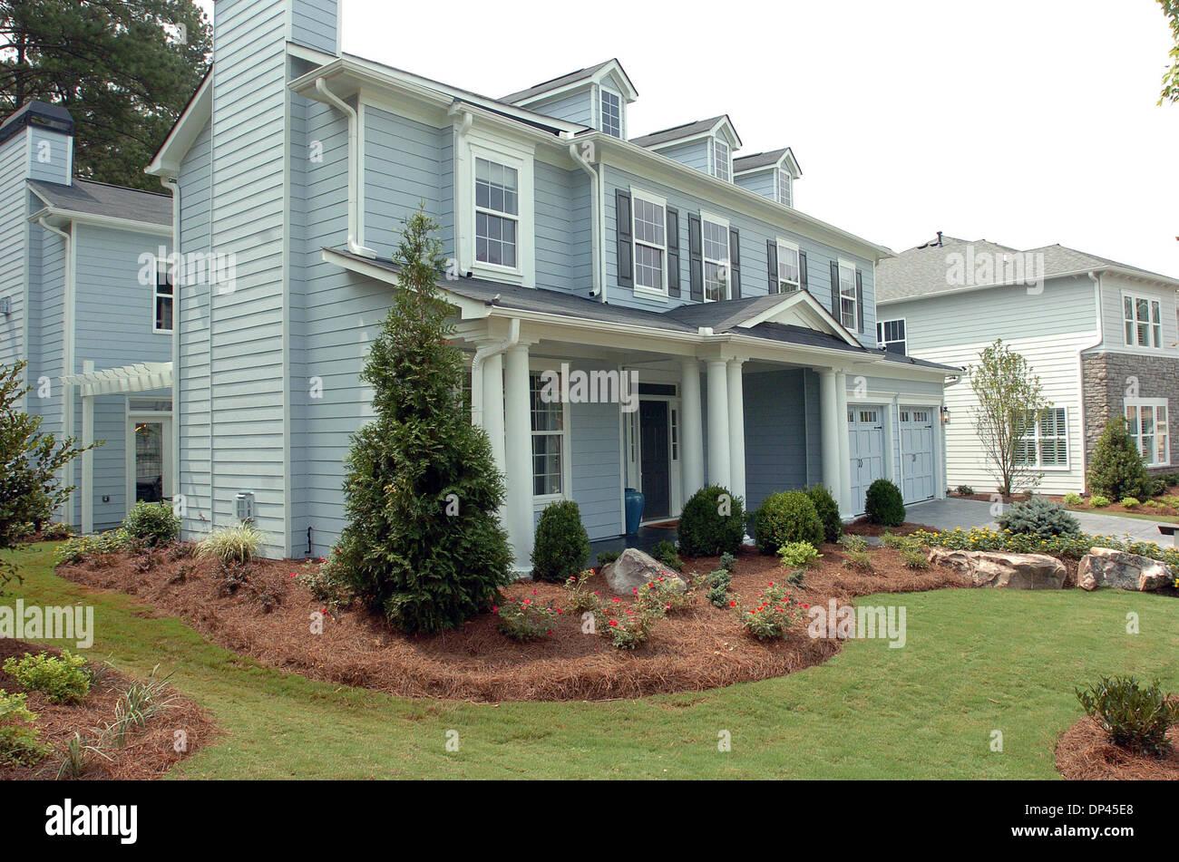 Jul 25, 2006; Fairburn, GA, USA; One of the model homes at the Stock ...