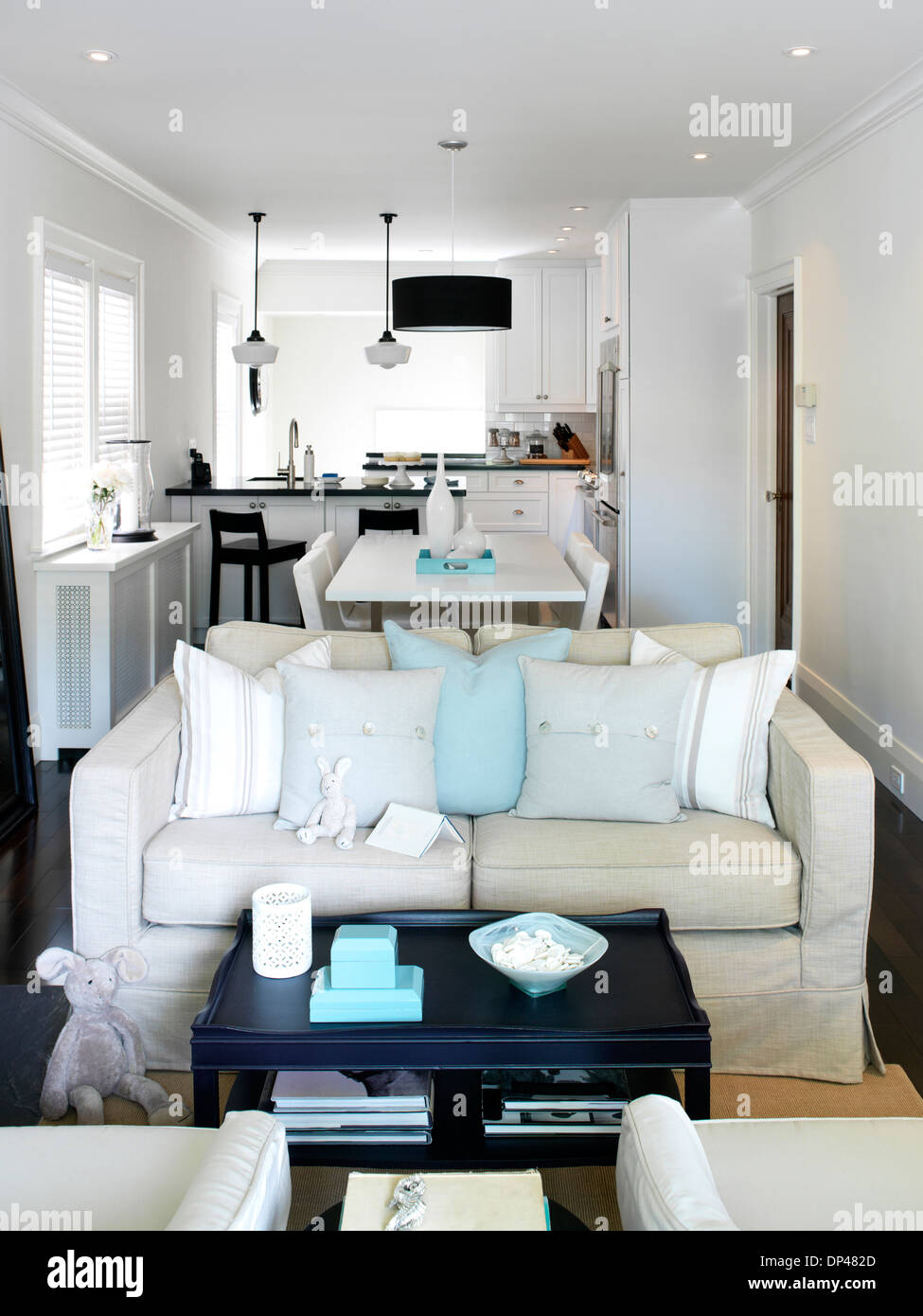 Home Interior Of Open Concept Living Room Dining Room And Kitchen Toronto Ontario Canada Stock Photo Alamy