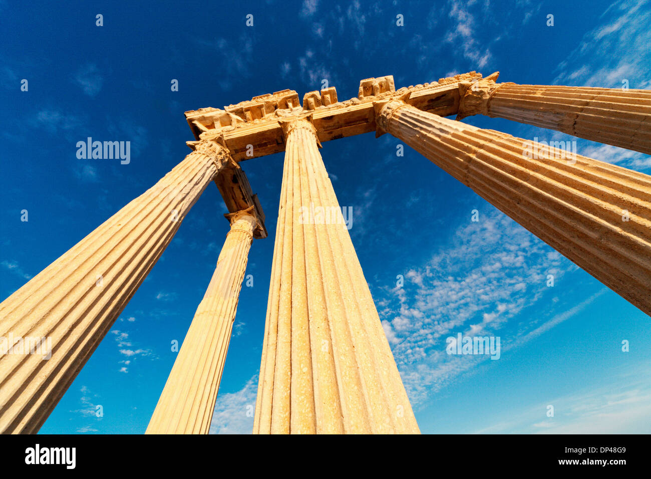 Ancient Greek ruins, Side, Turkey - Stock Image