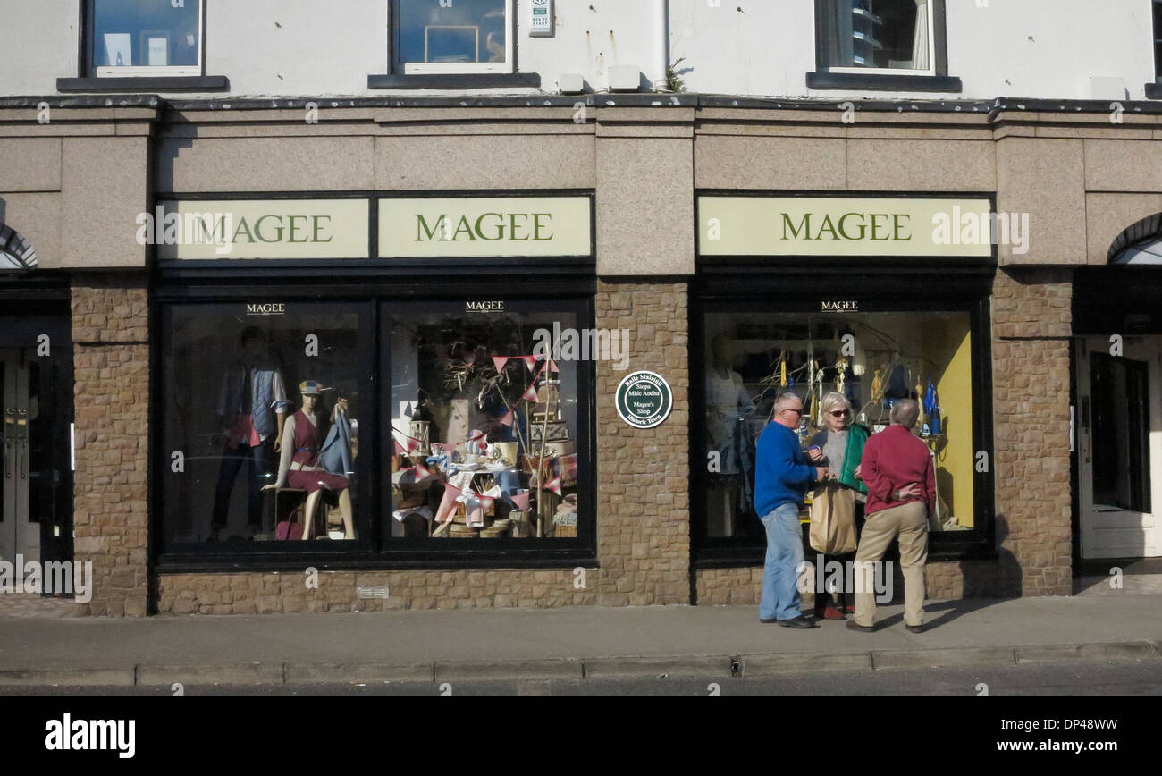 Magee department store famous for tweed Donegal Town County Donegal Ireland - Stock Image