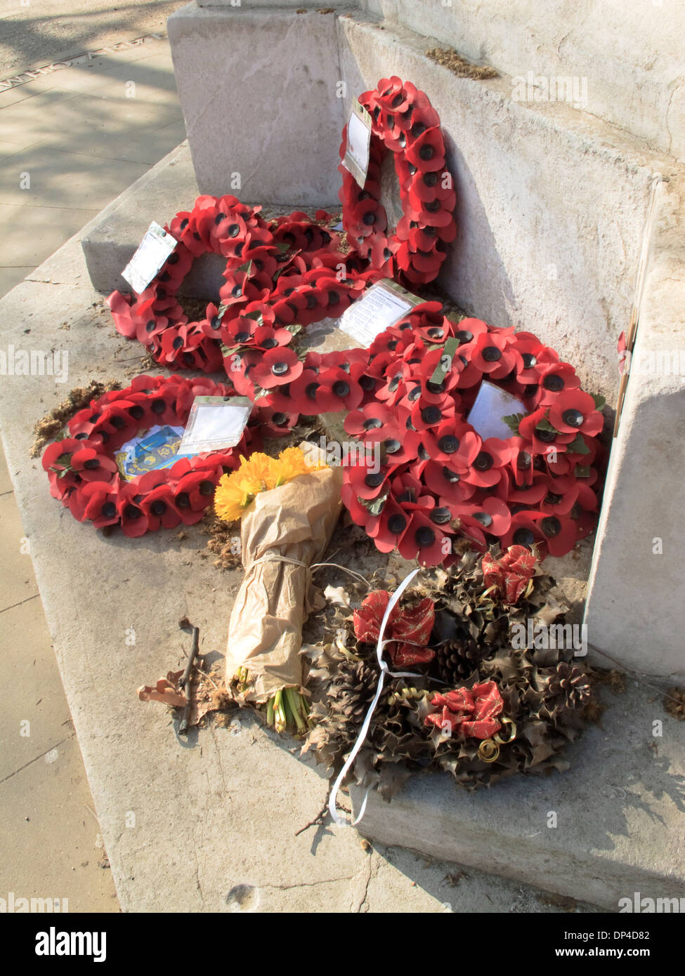 War Memorial Poppies - Stock Image