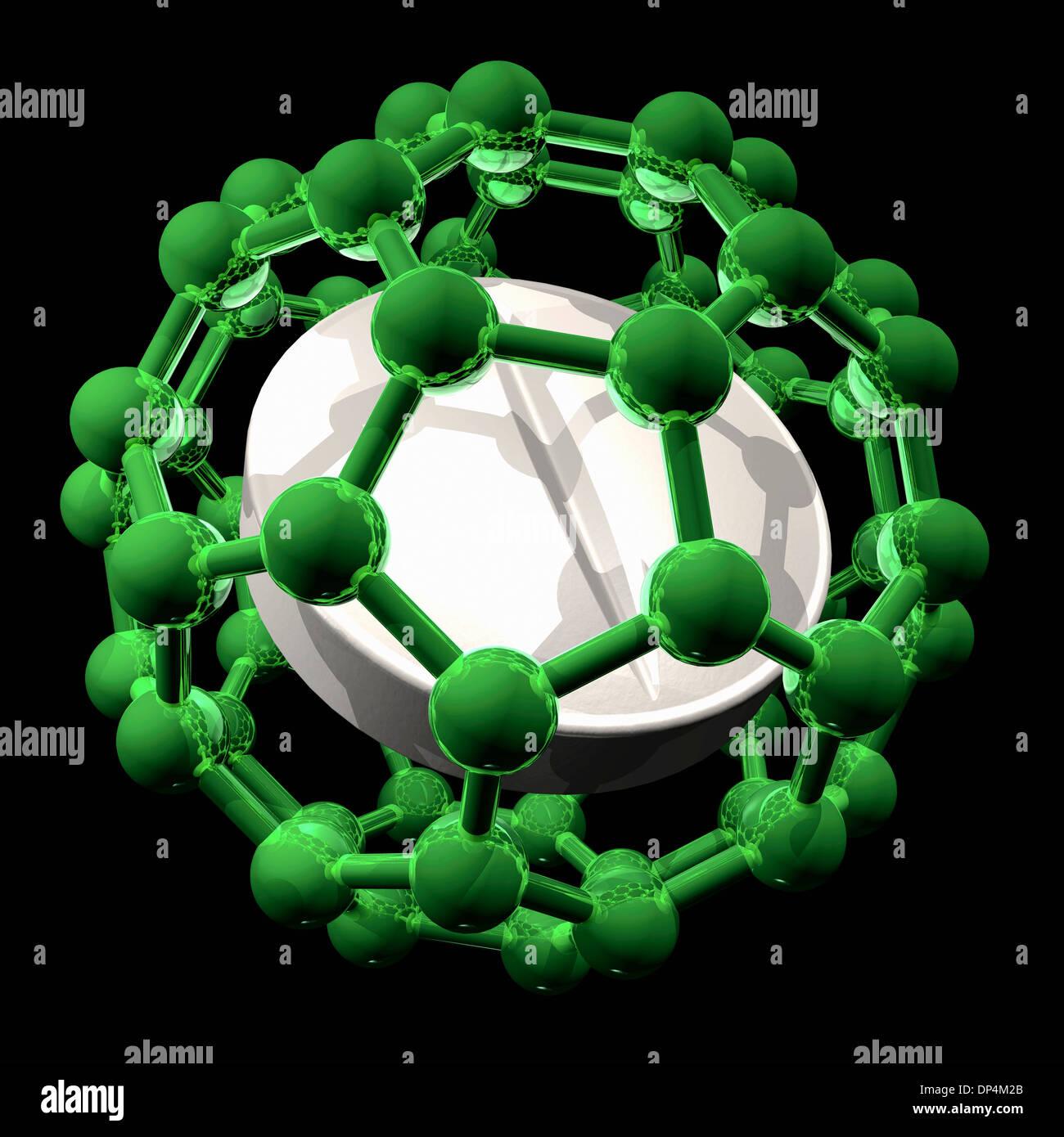Nanomedicine, conceptual artwork - Stock Image