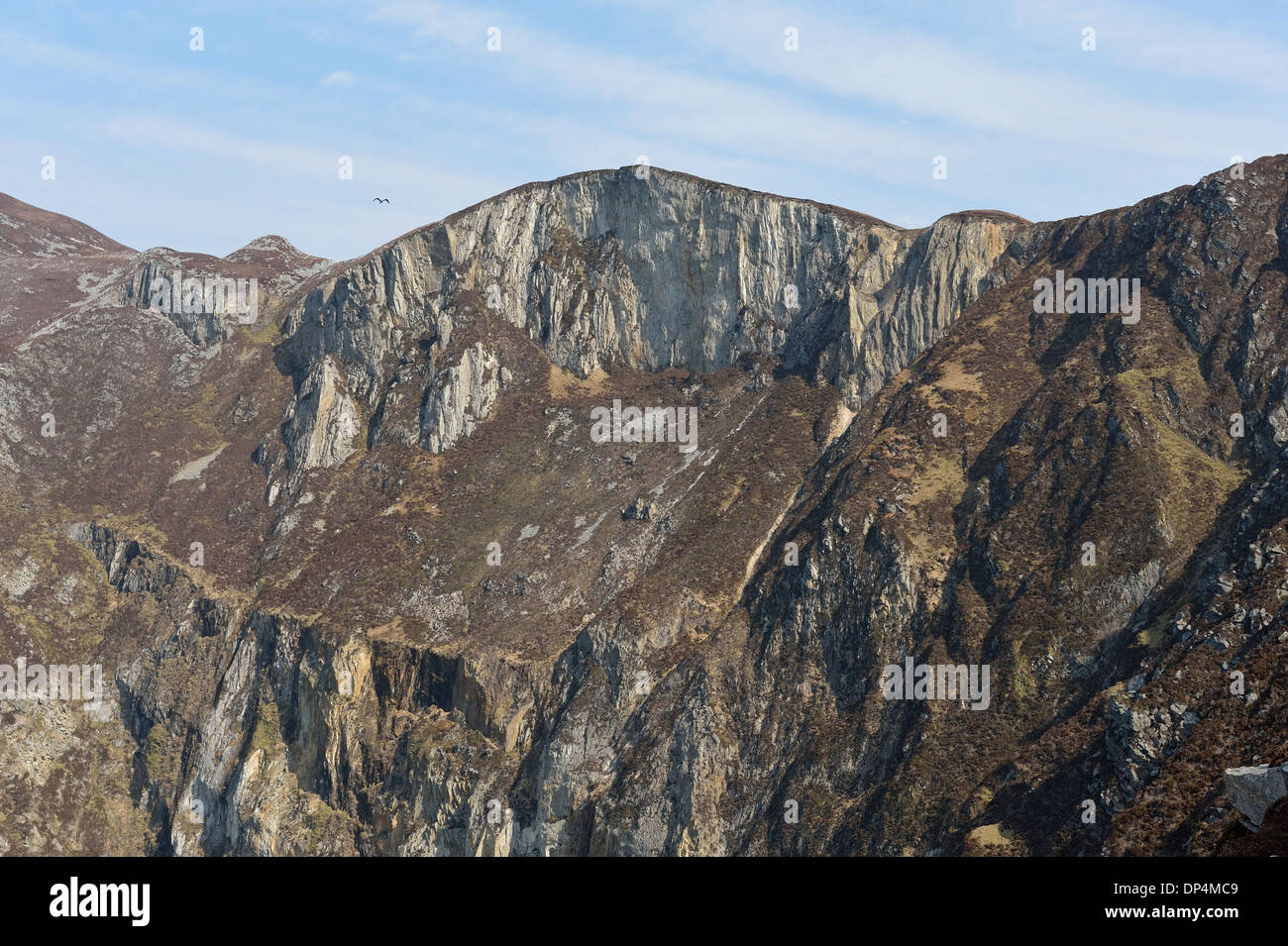 highest sea cliffs in Europe Slieve League Donegal Ireland - Stock Image