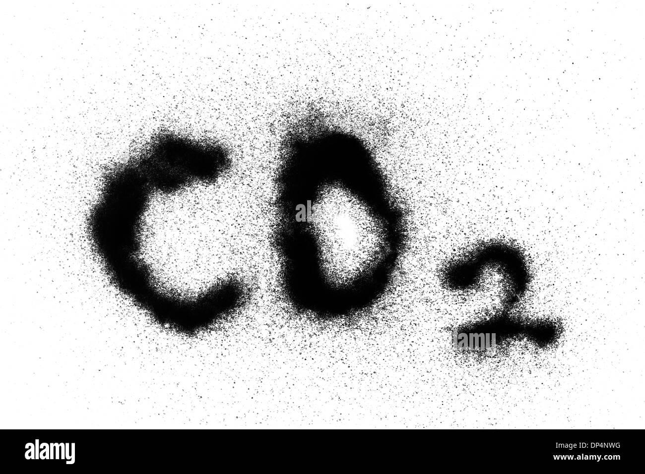 Carbon dioxide, conceptual image - Stock Image